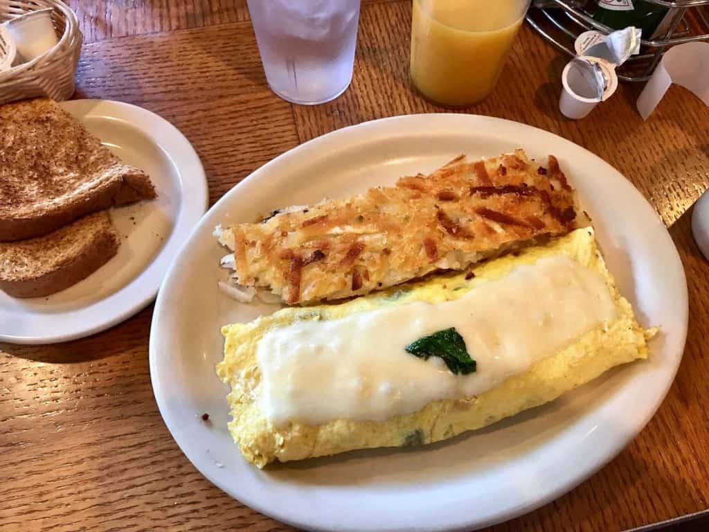wall street diner omelette