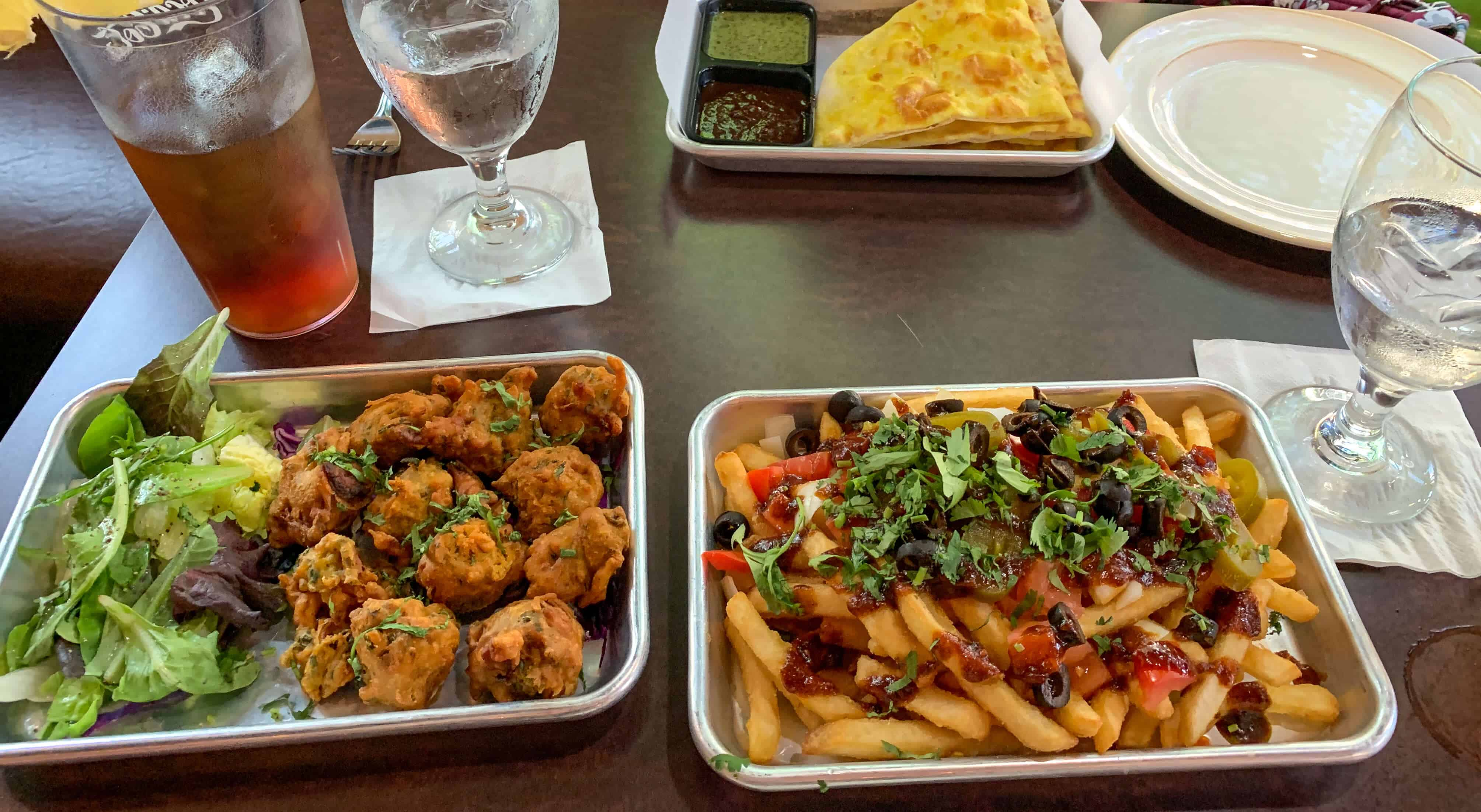 several appetizer options