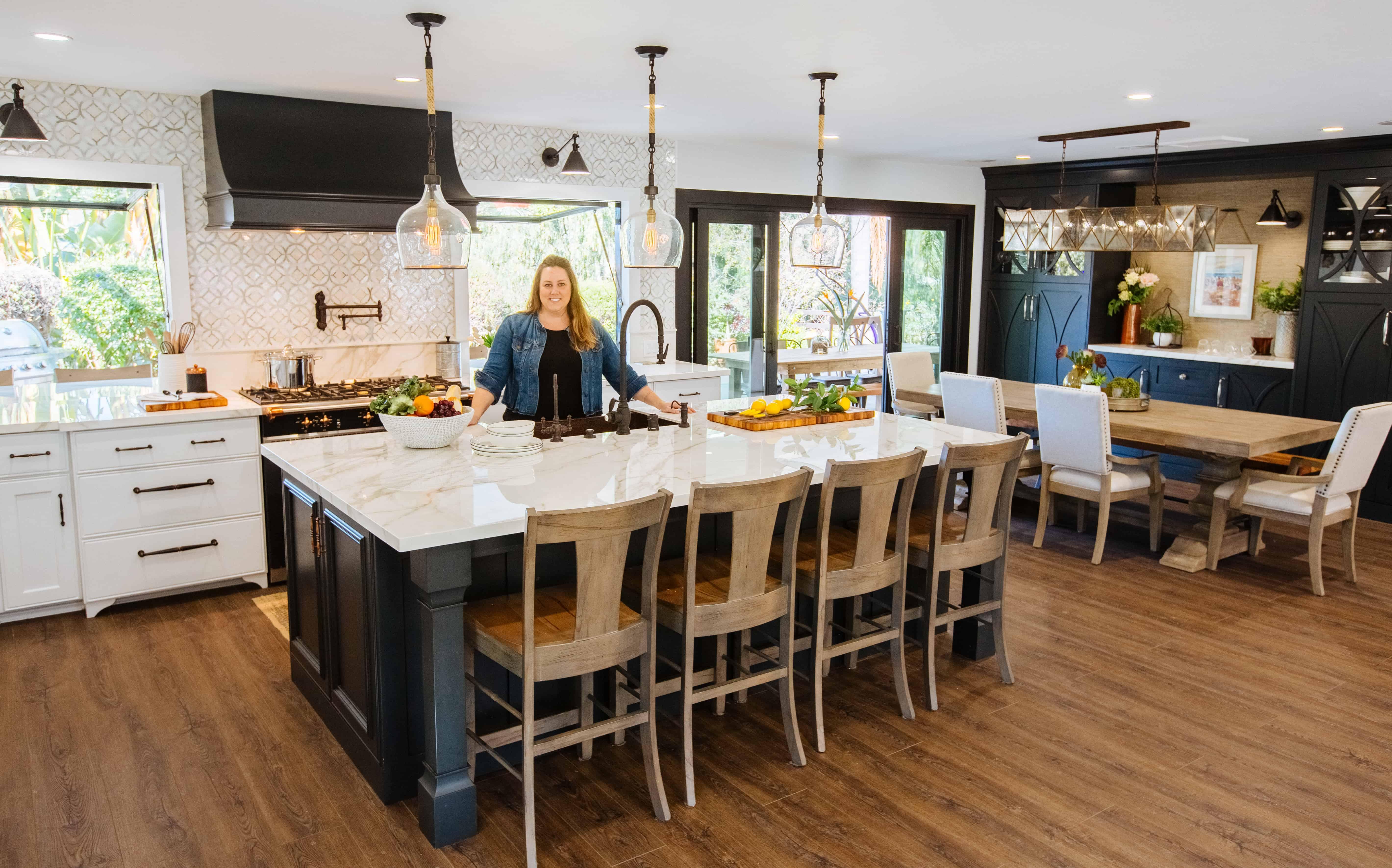 Carter showcasing a beautiful kitchen remodel