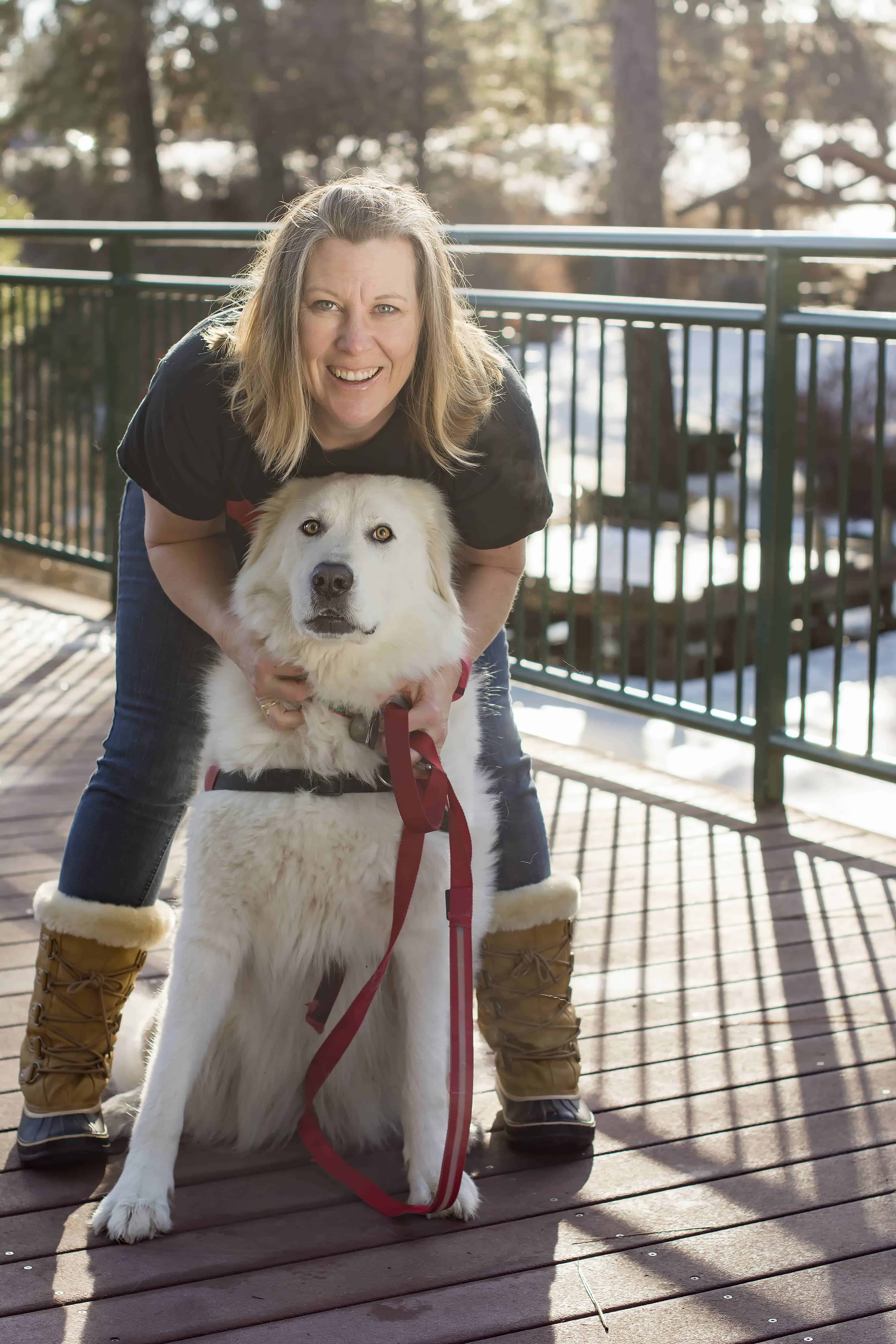 Angela from Noses and Toes Photography with her pup, Bella!