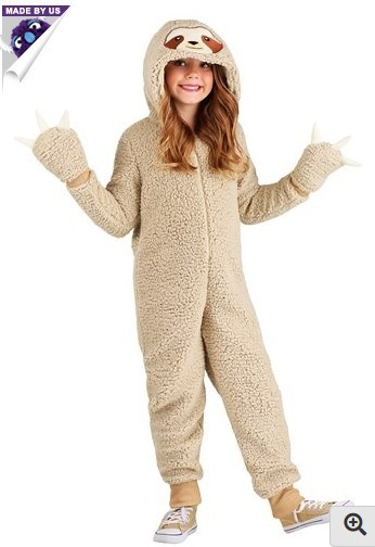 sloth costume kids