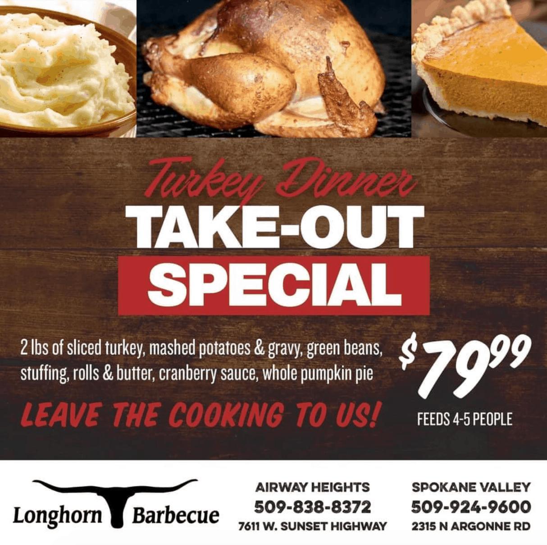 longhorn bbq thanksgiving in spokane