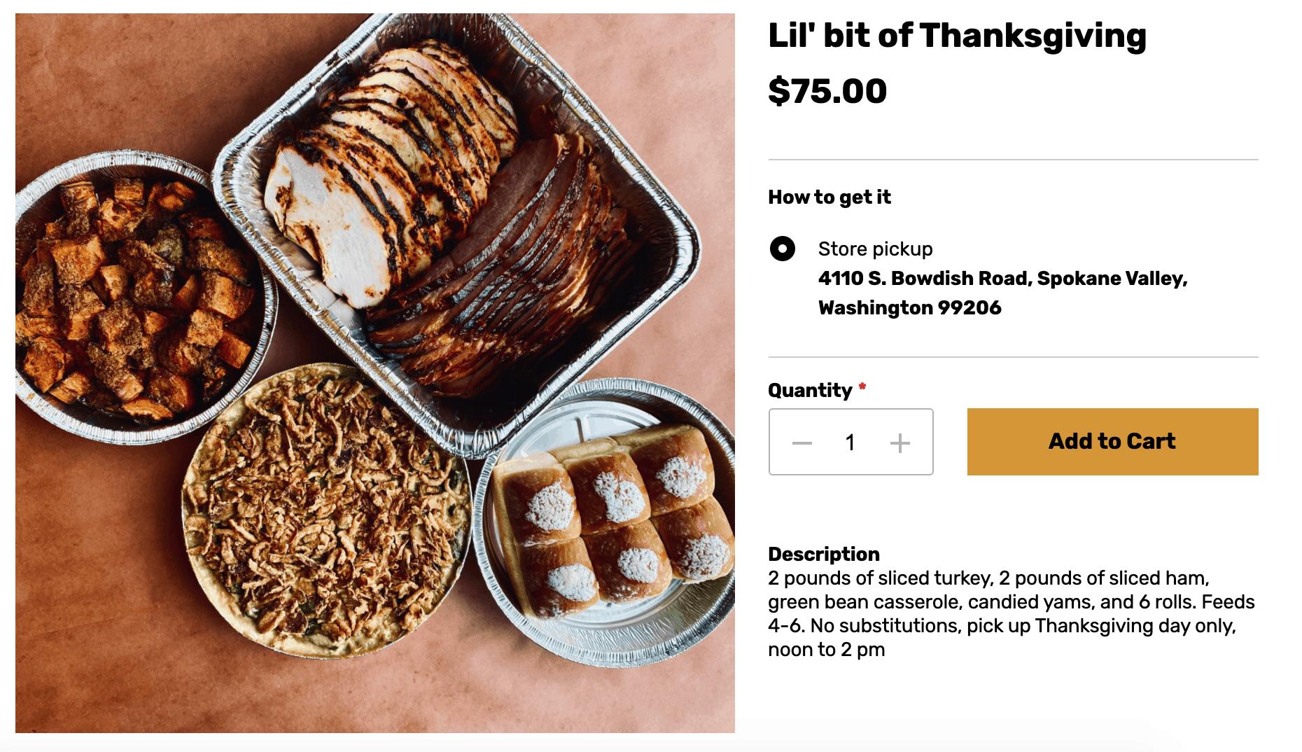 tts bbq thanksgiving meal