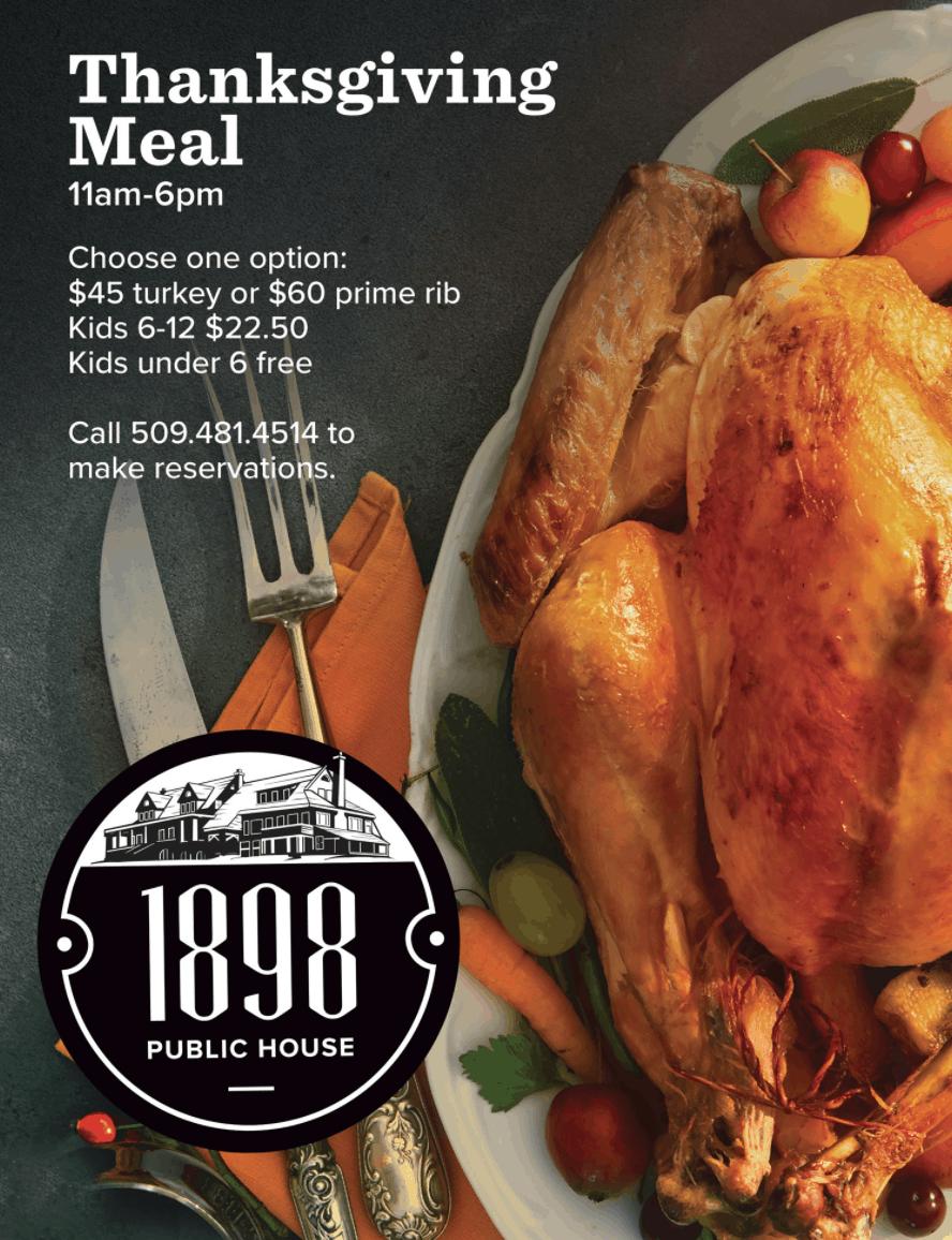 1898 public house thanksgiving dinner spokane