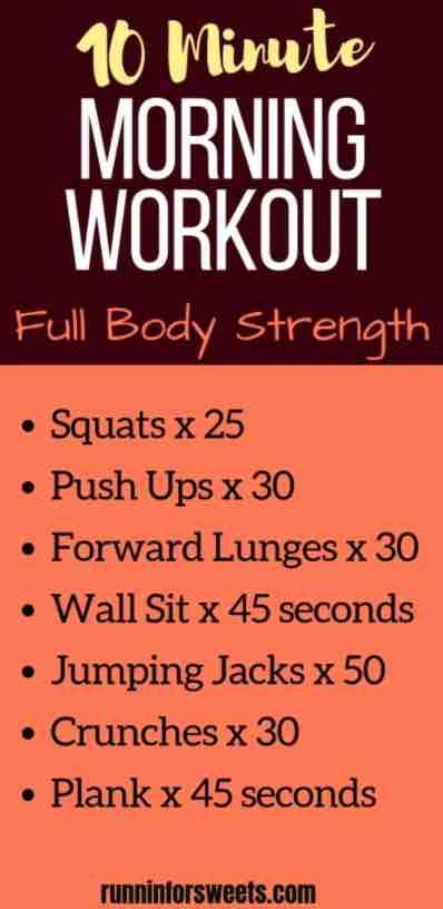 10 min morning workout