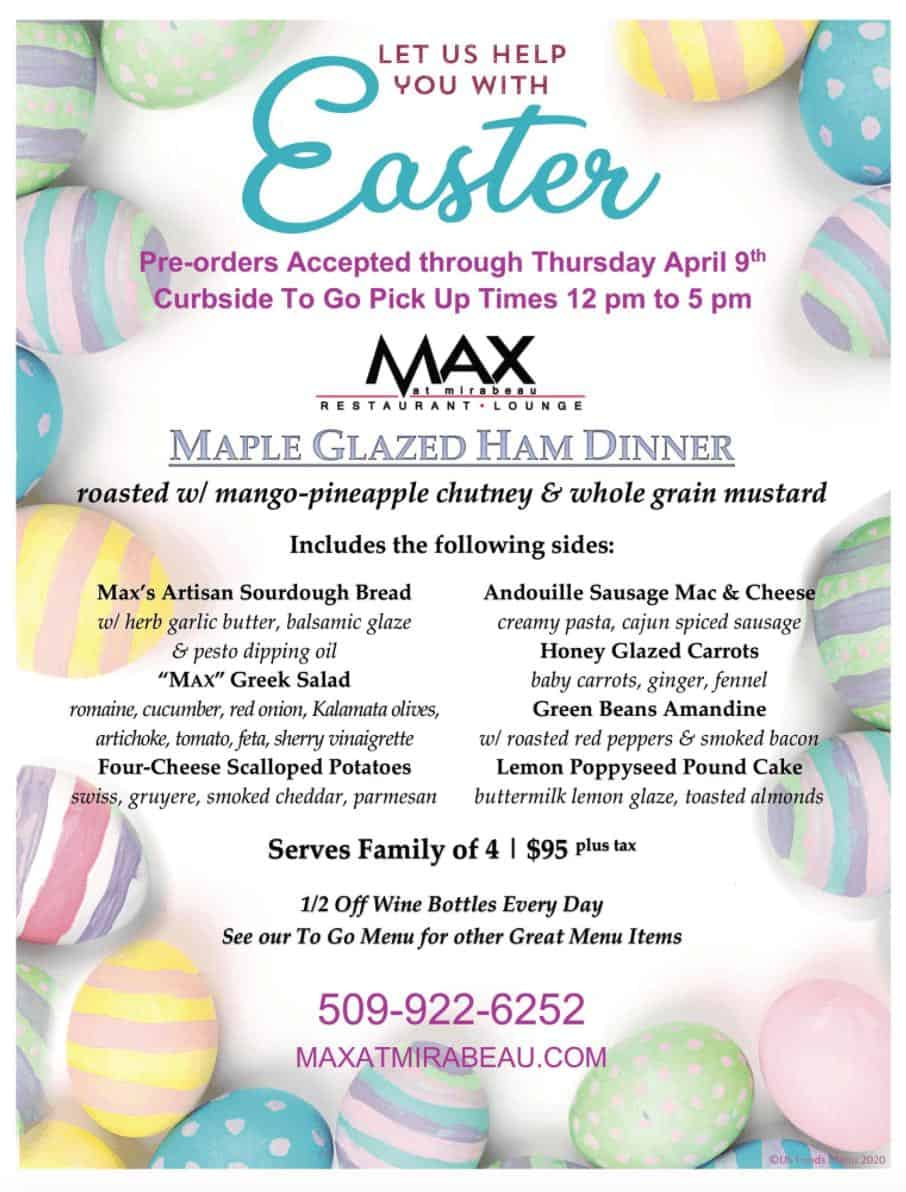 max at mirabeau easter menu