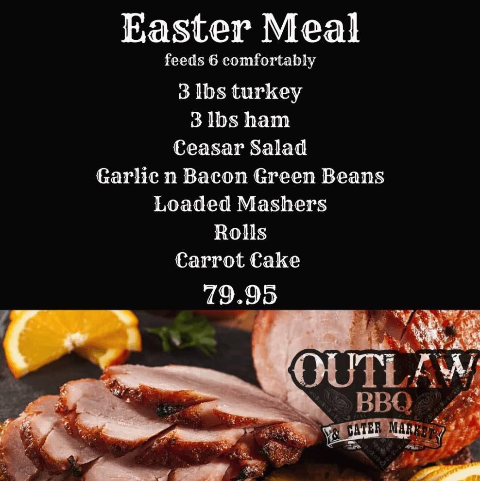 outlaw bbq easter menu