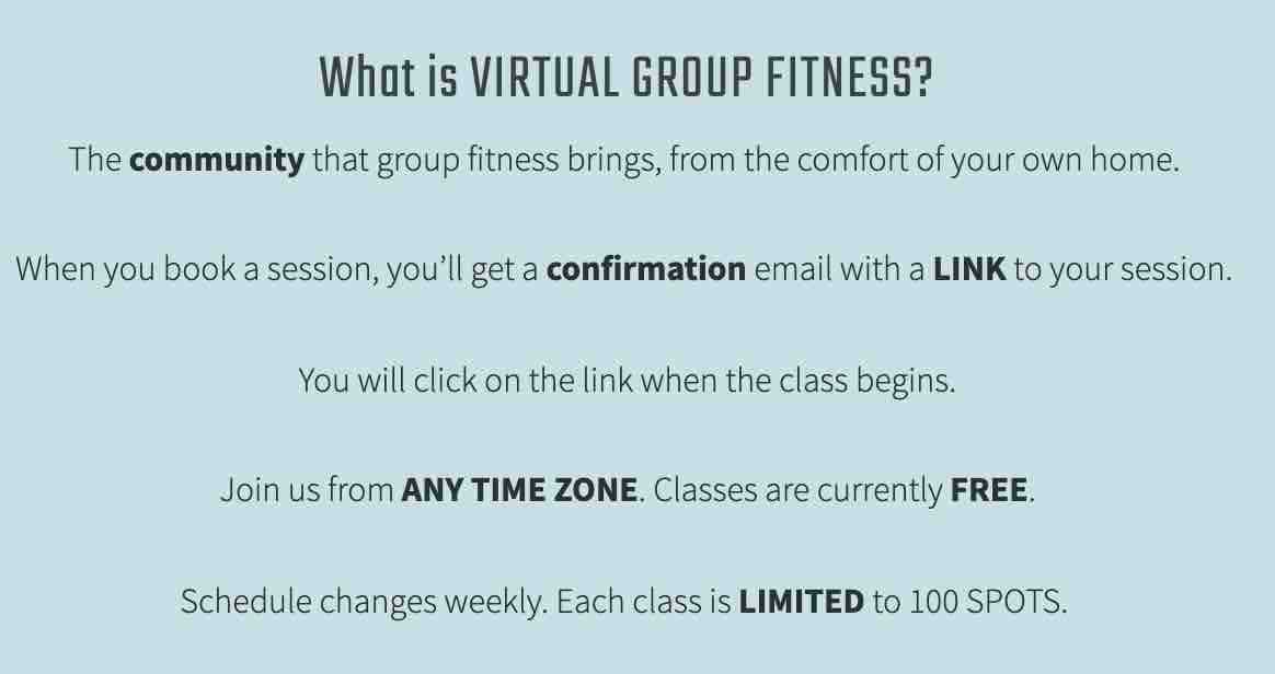 virtual fitness classes from fitragamuffin