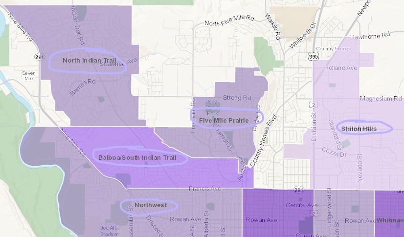 north spokane neighborhoods