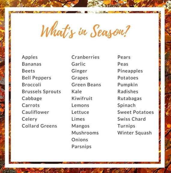 photo of what's in season from cherry hill farm