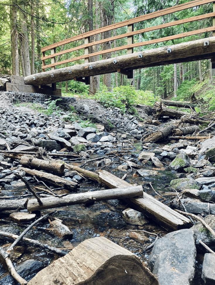 view of Liberty Creek and Edith Hansen Loop Trail-Liberty Lake Regional Park