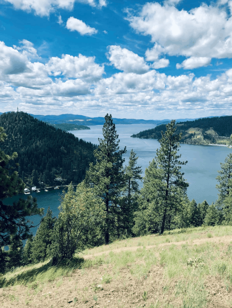 view of Mineral Ridge National Recreation Trail-Coeur d'Alene